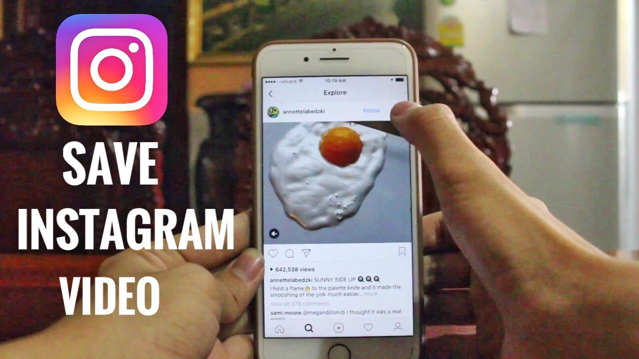 How to save a video from instagram